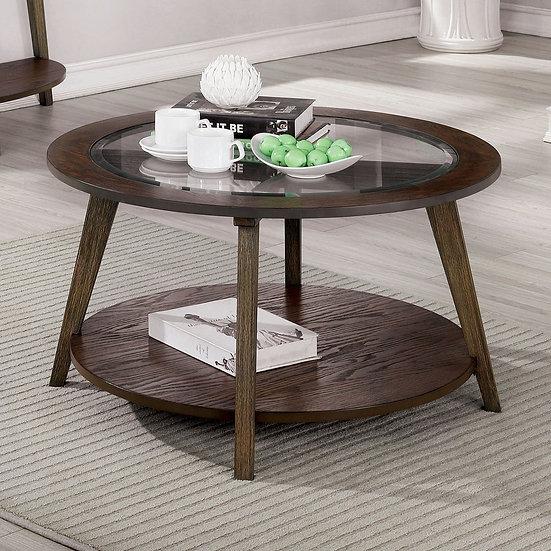 Furniture of America Mid-century Oak Solid Wood Coffee Table