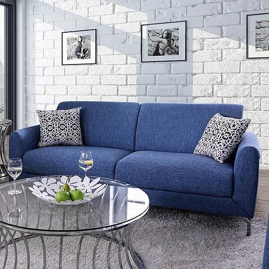 Coastal blue sofa