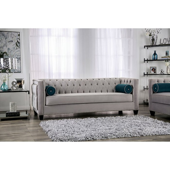 Furniture of America Silvan Tufted Sofa