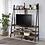 Thumbnail: Furniture of America Farmhouse Matte Black Open-shelf TV Stand