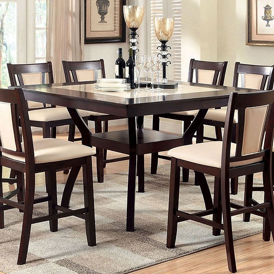 Furniture of America Brent II Counter Ht. Table Set