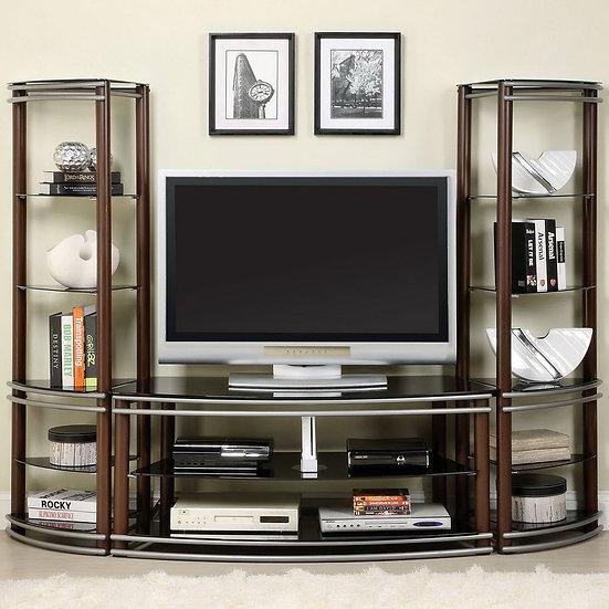Furniture of America Contemporary 52-inch Brown Glass Media Center