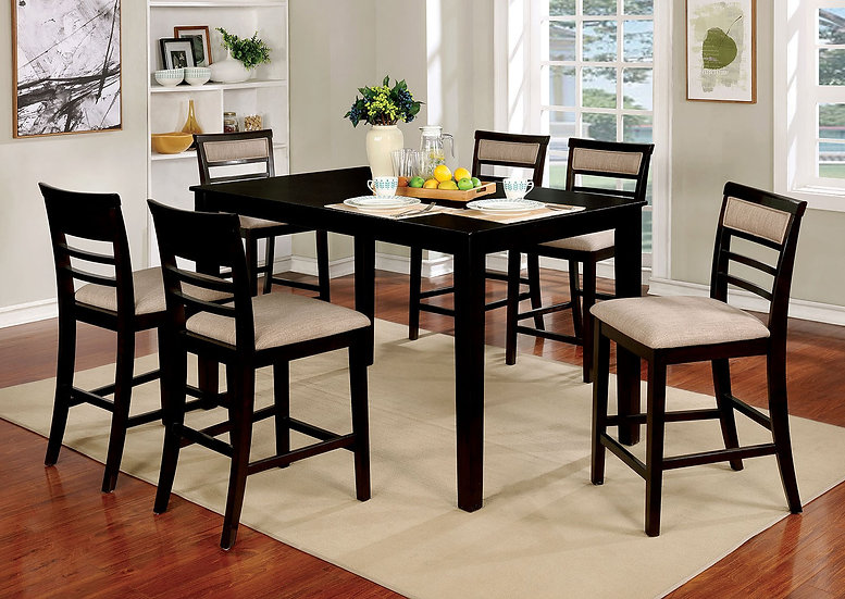 Furniture of America Fafnir 7 Piece Contemporary Counter Height Table Set