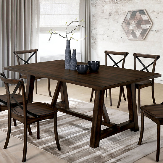 Furniture of America Saige Dining Table 7PC