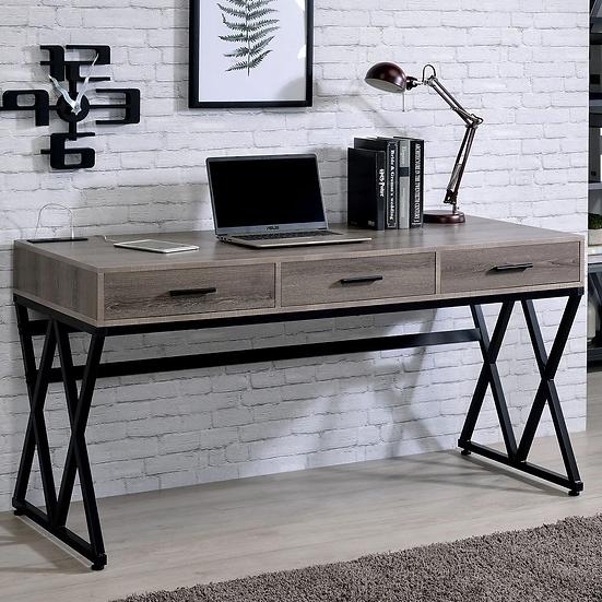 Furniture of America Urban Grey 59-inch Desk with USB Ports