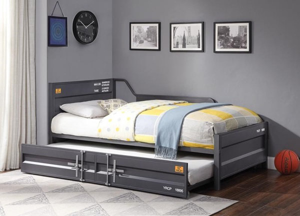 Cargo Daybed with Trundle (GUNMETAL)