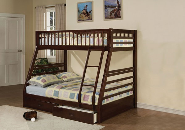 Jason Twin/Full Bunk Bed with Drawers