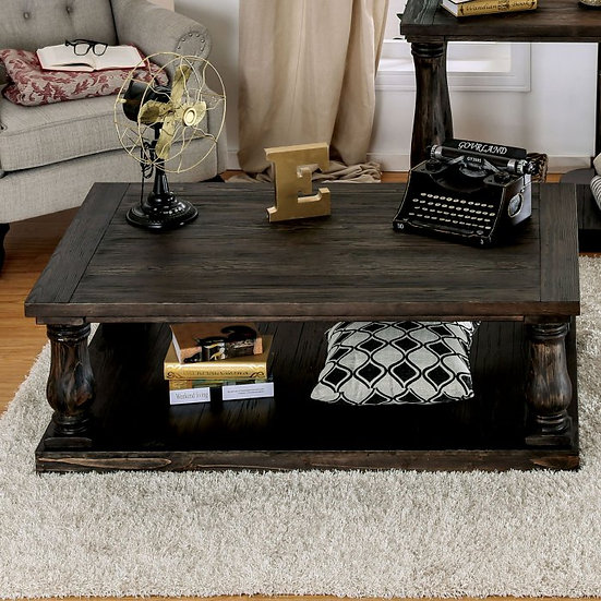 Keira Coffee Table w/ Wood Top
