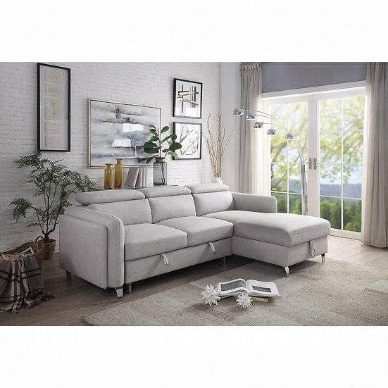 ACME Reyes Sectional Sofa w/Sleeper