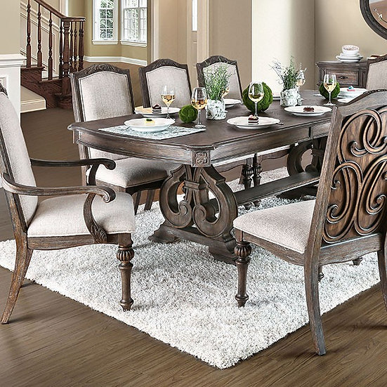 Furniture of America Arcadia 9pc Dining Table set