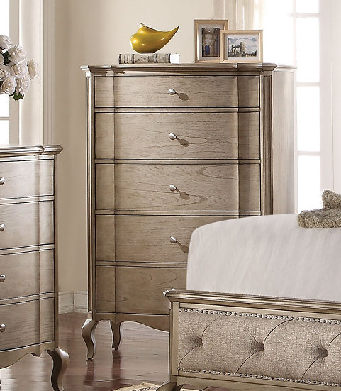 Chelmsford 5-Drawer Chest in Antique Taupe