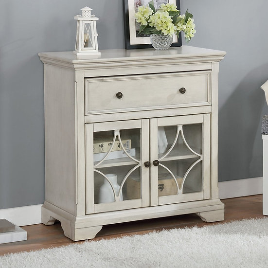 Furniture of America Transitional Antique White Hallway Cabinet
