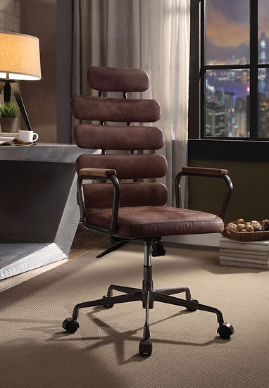 Calan Vintage Whiskey Leather Executive Office Chair