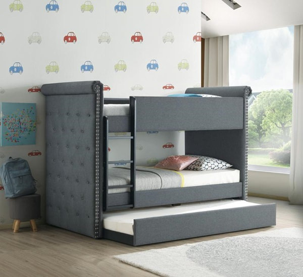 Romana II Twin Over Twin Bunk Bed with Trundle