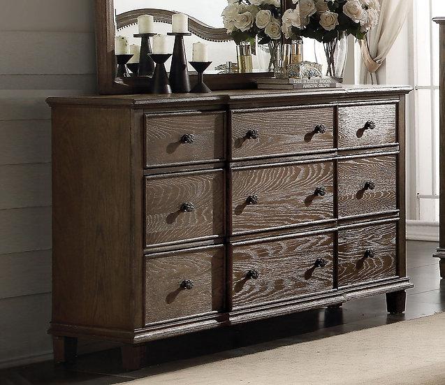 Baudouin Drawer Dresser in Weathered Oak