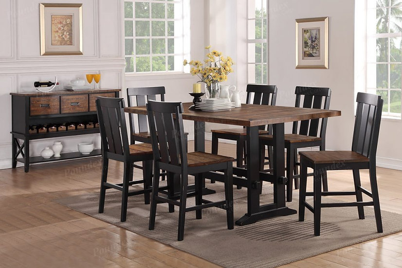 Kendall Counter Height Dining Set In Antique Oak Black