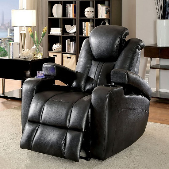 Furniture of America Zaurak Contemporary Style Leatherette Recliner Chair