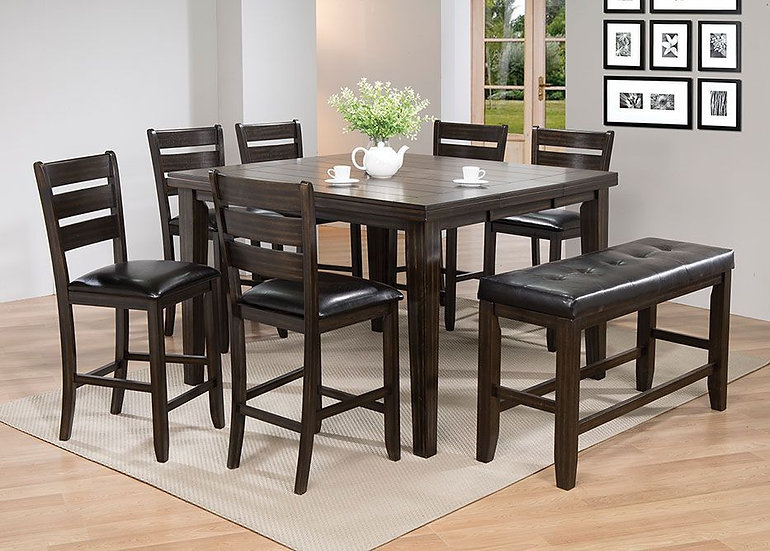 8-piece Gathering Counter Height Dining Table Set