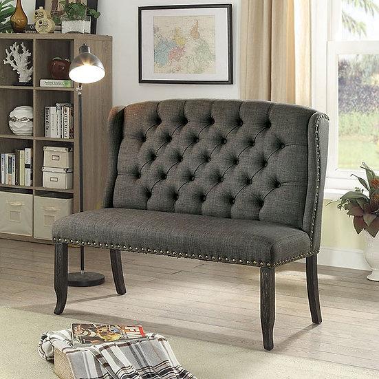 Furniture of America Linen Upholstered Loveseat