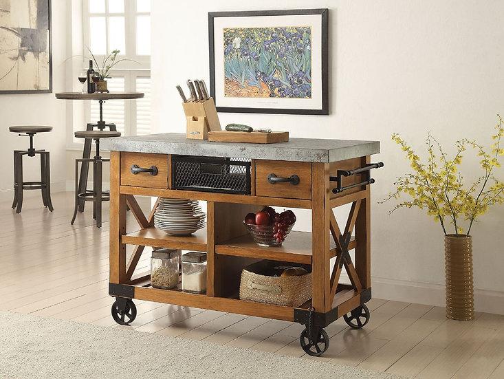 Antique Oak kitchen Cart