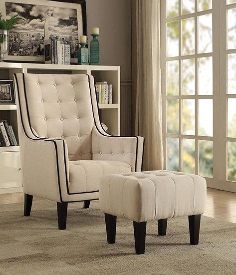 Ophelia Contemporary Chair & Ottoman