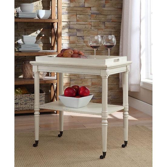ACME Antique White Tray Table