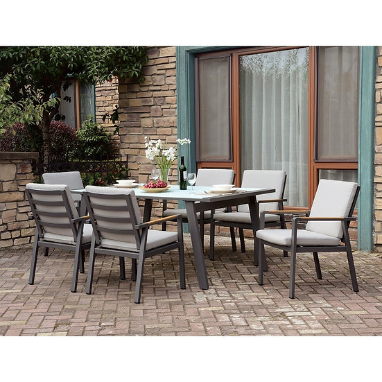 Furniture of America Transitional Beige 7-piece Patio Dining Set