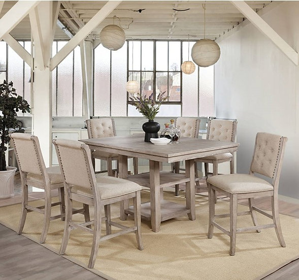 Furniture of America Ledyard Counter Ht. Dining Table Set