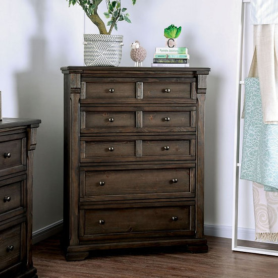 Furniture of America Amadora 5 Drawer Chest