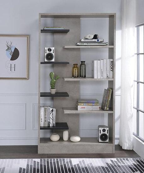 Contemporary Magna Bookcase With Faux Concrete