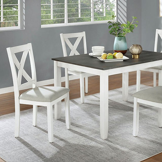 Furniture of America Anya Rustic Solid Wood 5-piece Dining Set