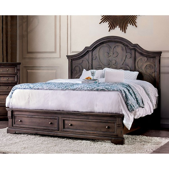 Furniture of America Amadora Queen Bed Platform Storage Bed