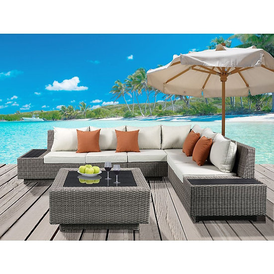 Patio Sectional & Cocktail Table