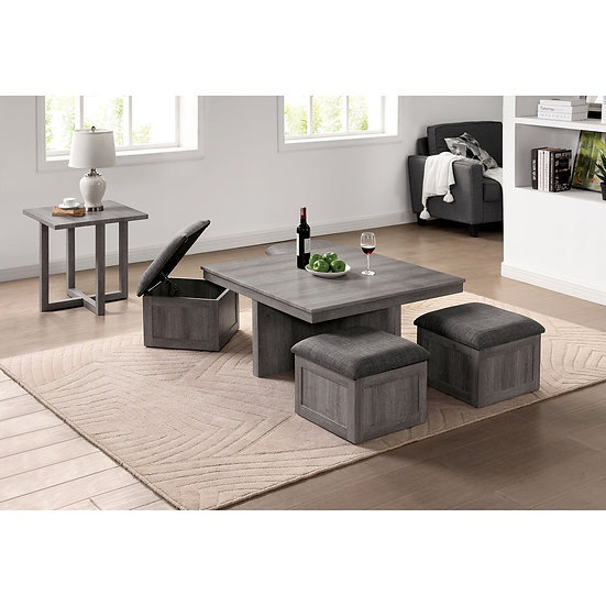 Furniture of America Grey 7-piece Nesting Coffee and Side Table Set