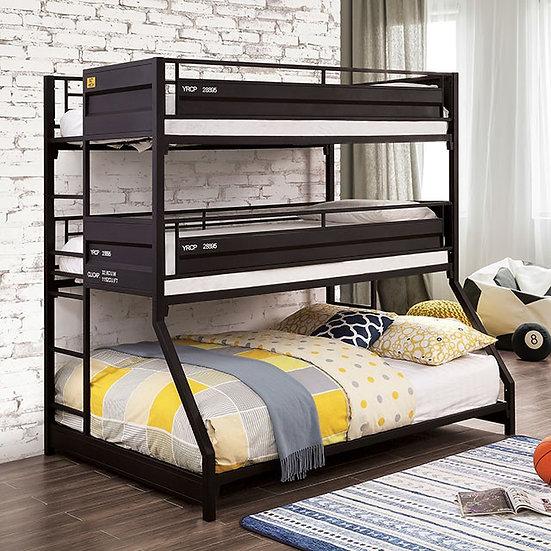 Furniture of America Dicarlo Twin/Twin/Full Bunk Bed