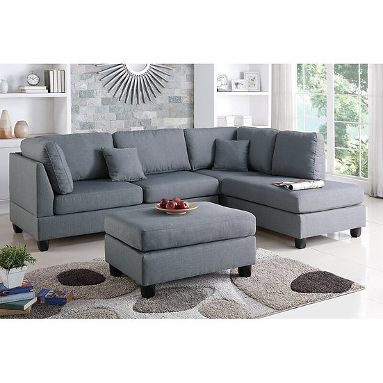 Mills Reversible Sectional with Ottoman