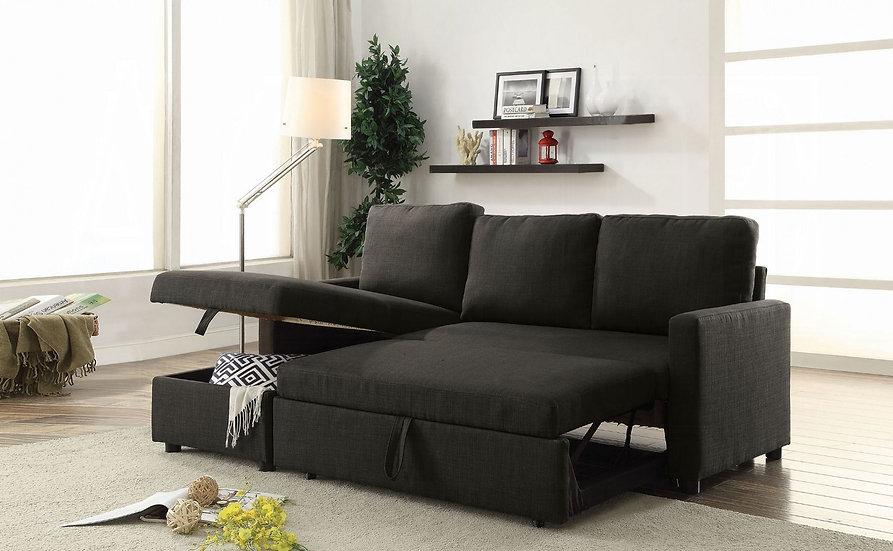 ACME Hiltons Sectional Sofa w/Sleeper & Storage