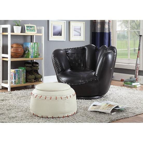 Baseball All Star 2Pc Pack Chair & Ottoman