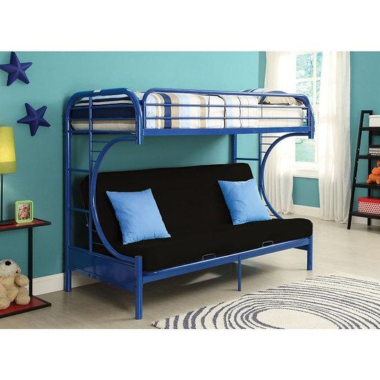 Twin/Full/Futon Bunk Bed -Navy