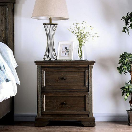 Furniture of America Amadora 2 Drawer Nightstand