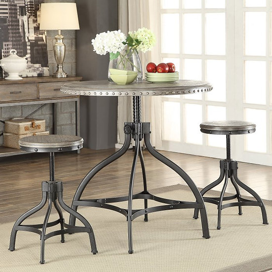 Acme Furniture Fatima 3 Piece Pub Table Set