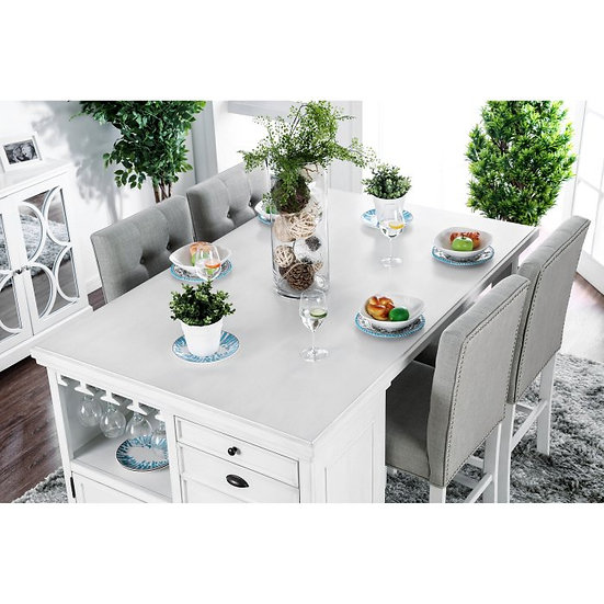 Furniture of America Sutton Kitchen Island Table Set