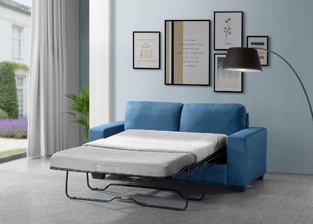 ACME Zenas Sleeper Sofa in Blue