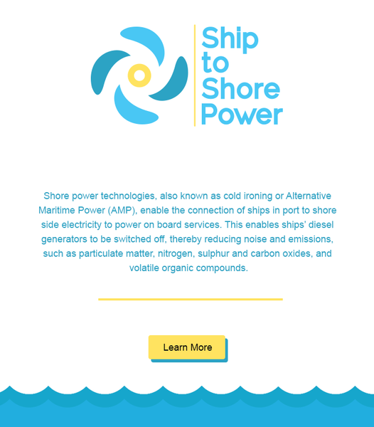 Marketing Material for Ship to Shore Power