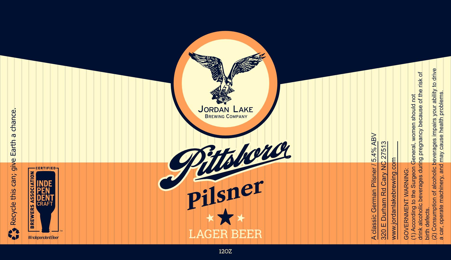 Pittsboro Pilsner - Jordan Lake Brewing Co.