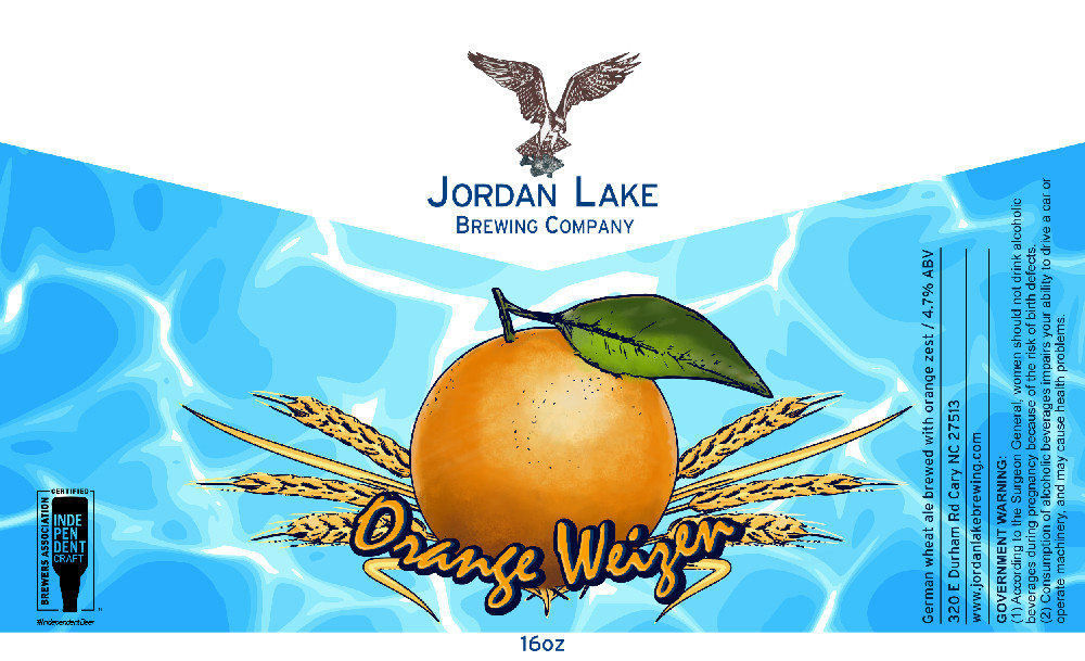 Orange Weizen - Jordan Lake Brewing Co.
