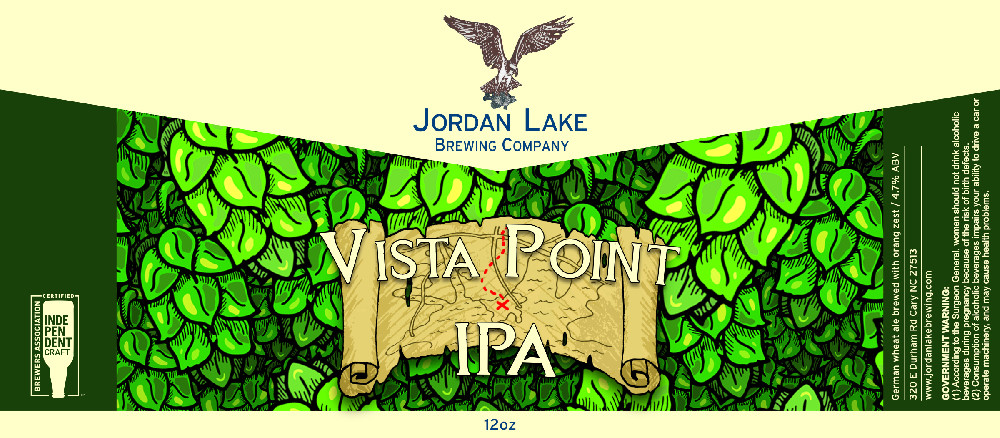 Vista Point IPA - Jordan Lake Brewing Co.