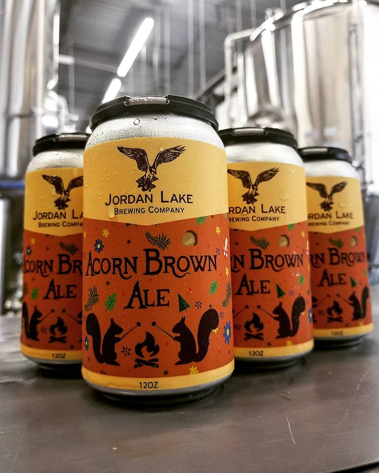 Packaging for Acorn Brown Ale - Jordan Lake Brewing Co.