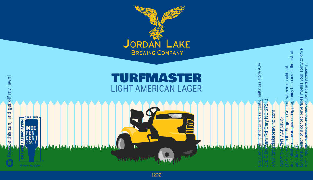Turfmaster Light American Lager - Jordan Lake Brewing Co.