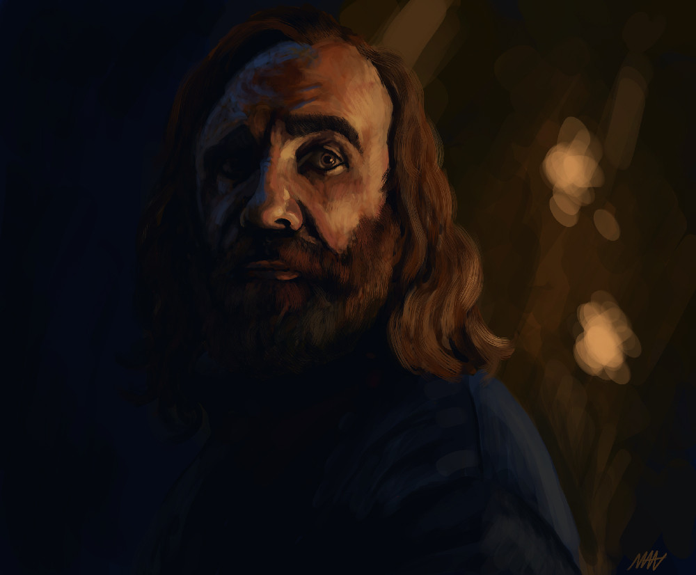 "Portrait of ""The Hound"""